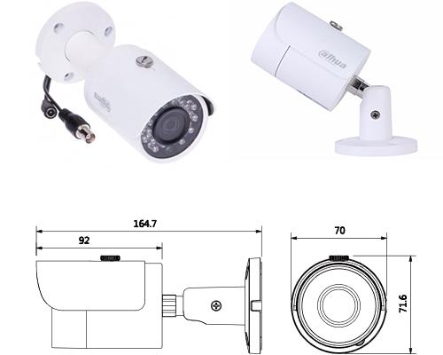 Caméra tube 1080p HDCVI - IR 30m - Dahua - Blanc