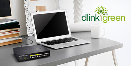 Switch PoE D-Link 8 ports Gigabit