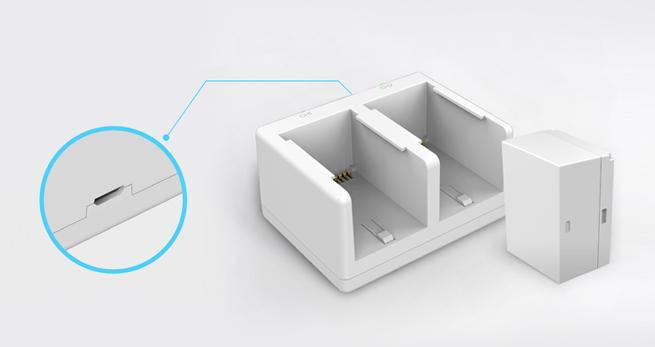 Chargeur de batterie à deux emplacements pour caméra C3A