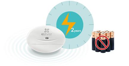 Détecteur d'ouverture autonome sans fil - Ezviz T2
