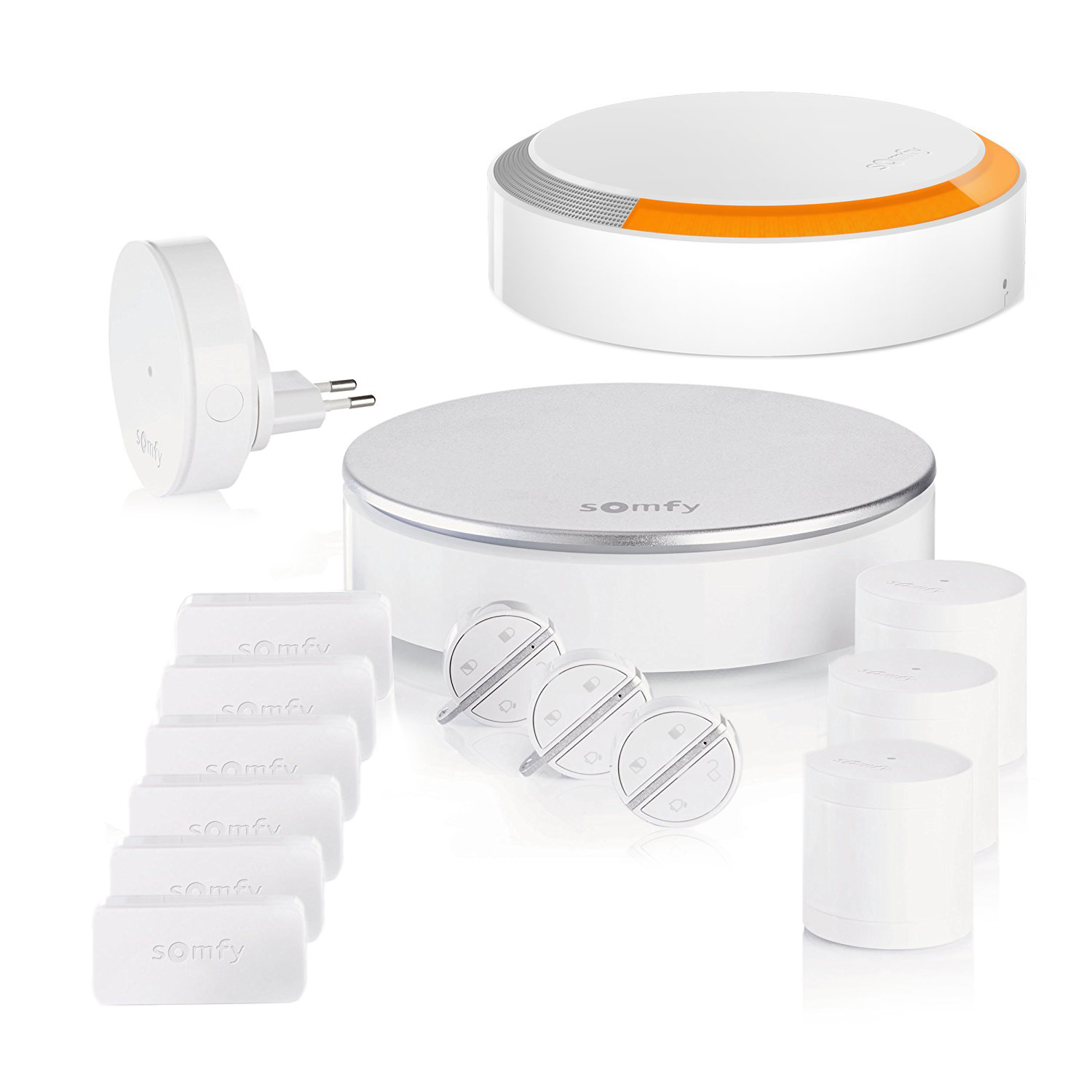 Composition du pack alarme Somfy Home Alarm - kit 1