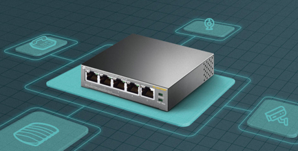 Switch 5 ports de bureau Gigabit PoE