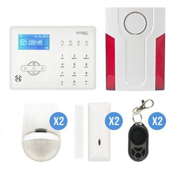 alarme maison et sirène flash exterieure