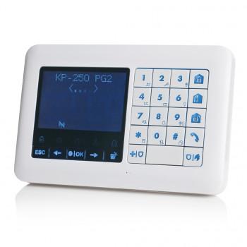 Clavier déporté LCD avec lecteur de badge - Visonic Powermaster - KP-250-PG2