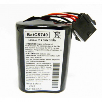 Lot de 2 batteries de sirène MCS 720B/740/ SR 720 / 740 - Alarme Visonic