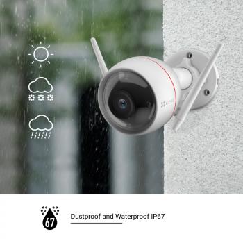 Caméra IP Wi-Fi extérieure avec spots lumineux - C3W Pro Ezviz par Hikvisio