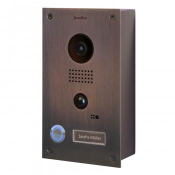 Portier vidéo IP wifi - Montage en saillie – Doorbird D201B Bronze