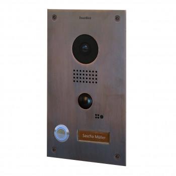 Portier vidéo IP wifi encastrable – Doorbird D202B Bronze