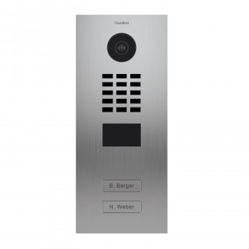 Portier vidéo IP 2 sonnettes - Lecteur RFID - Inox - Doorbird D2102V