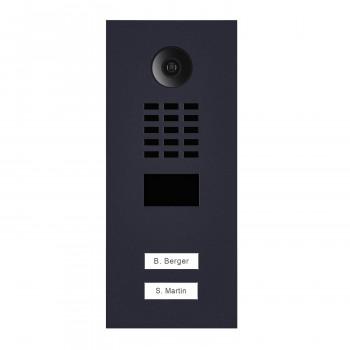 Portier vidéo IP 2 sonnettes - Lecteur RFID - Doorbird D2102V - Anthracite