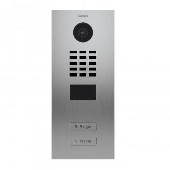Portier vidéo IP 2 sonnettes - Lecteur RFID - Doorbird D2102V EAU SALEE Inox