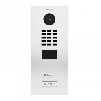 Portier vidéo IP 2 sonnettes avec lecteur de badge RFID - Doorbird D2102V Blanc