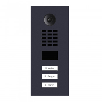Portier vidéo IP 3 sonnettes - Doorbird D2103V Anthracite