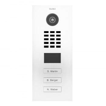 Portier vidéo IP 3 sonnettes - Lecteur RFID - Doorbird D2103V Blanc