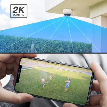 Caméra IP Wi-Fi extérieure motorisée 4MP - Zoom optique x4 - Foscam D4Z