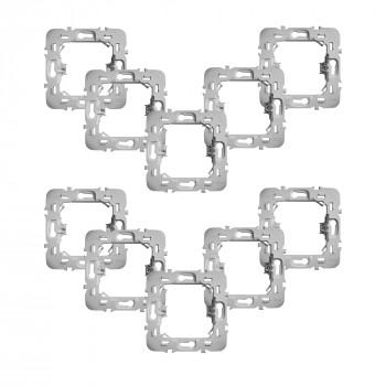 Lot de 10 adaptateurs pour montage de modules Walli sur façades Legrand - Fibaro