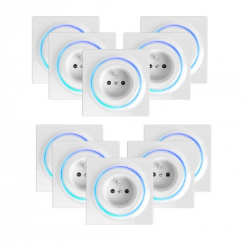 Lot de 10 prises intelligentes encastrées Z-Wave+ - Walli Outlet Type E - Fibaro