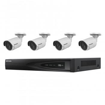 Kit videosurveillance 4 caméras compactes - Hikvision