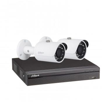 Kit vidéosurveillance enregistreur éco + 2 caméras compactes 1080P - Dahua