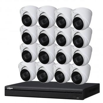 Kit de vidéosurveillance enregistreur + 16 caméras dôme - 1080p - Dahua
