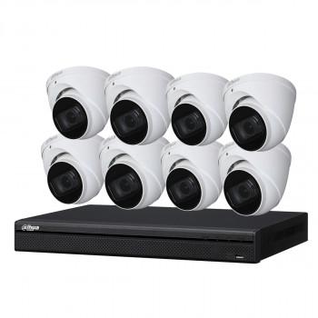 Kit de vidéosurveillance enregistreur + 8 caméras dôme - 1080p - Dahua