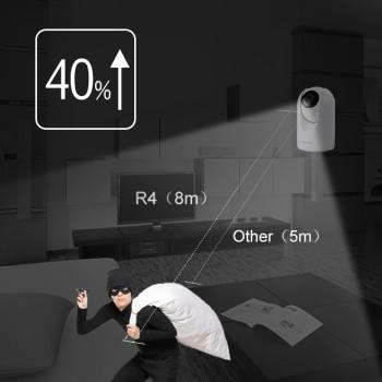 Caméra motorisée HD 4Mp infrarouge 8m Foscam R4