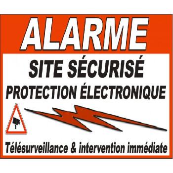 1 sticker alarme pour portail