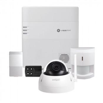 Kit alarme IP / 2G - 160 Zones avec caméra extérieure - Vesta by Climax