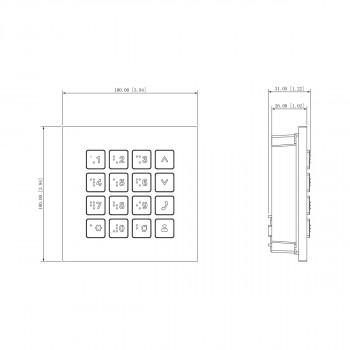 Module clavier à code pour portier vidéo modulaire série VTO4 - Dahua
