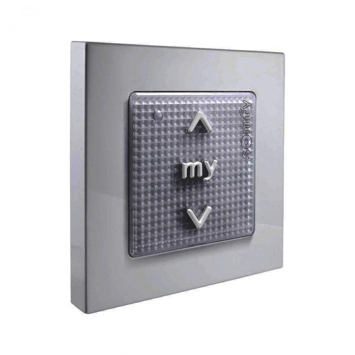 SOMFY Commande murale sans fil pour gestion de motorisations Silver