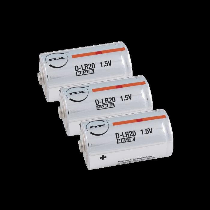 Lot de 3 piles LR20 pour sirène autonome