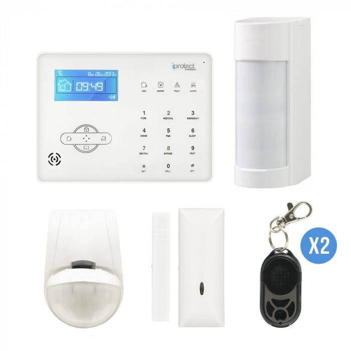 Alarme maison / jardin + détecteur OPTEX