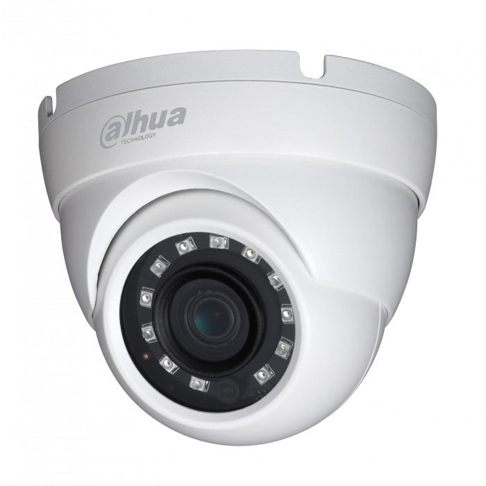 Caméra dôme infrarouge 1080p HDCVI IR 30m - Dahua - Blanc