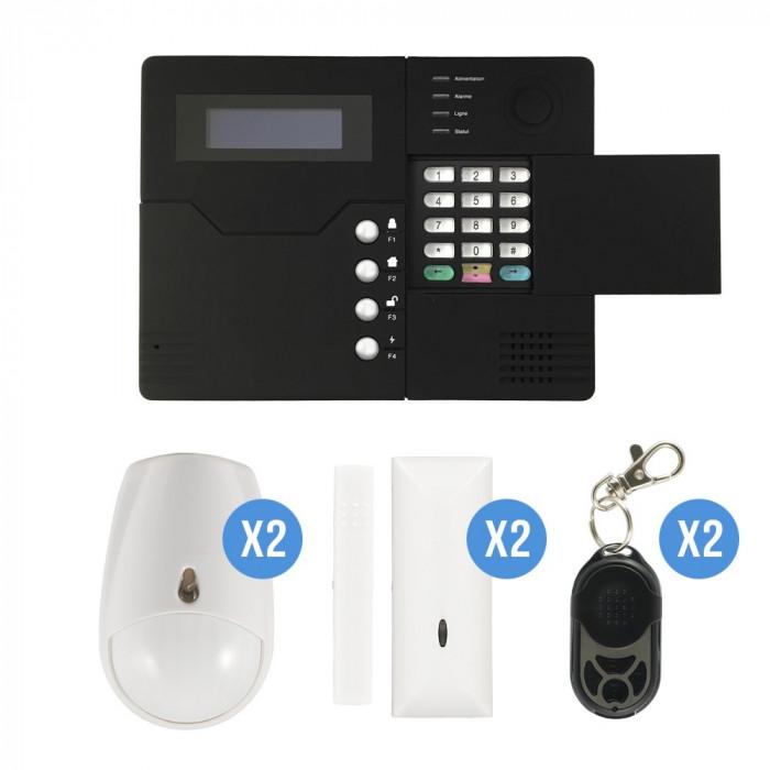Système d'alarme sans fil GSM iprotect - kit 2