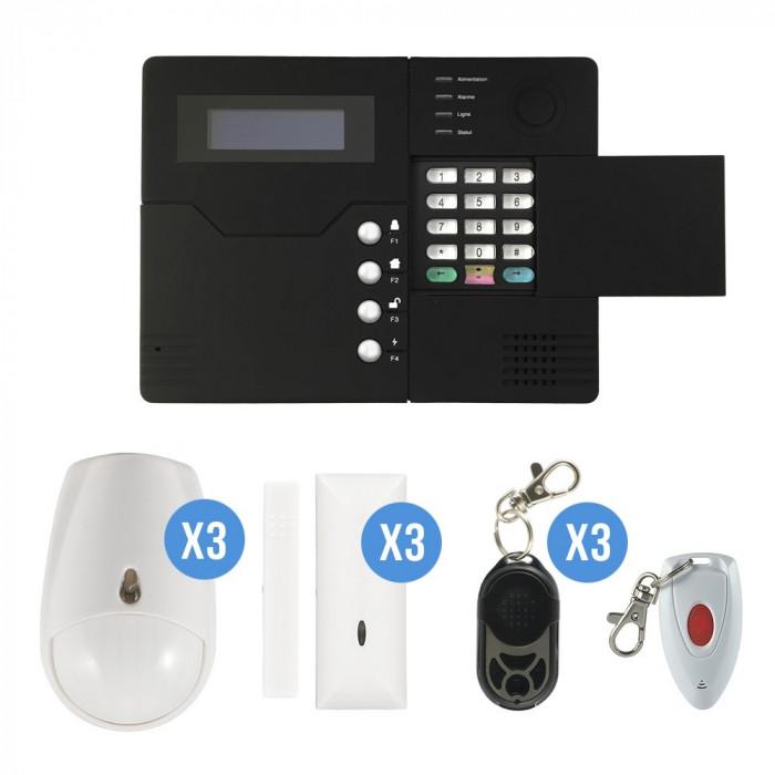 Systeme d'alarme GSM sans fil 4-5 pièces maison - iProtect
