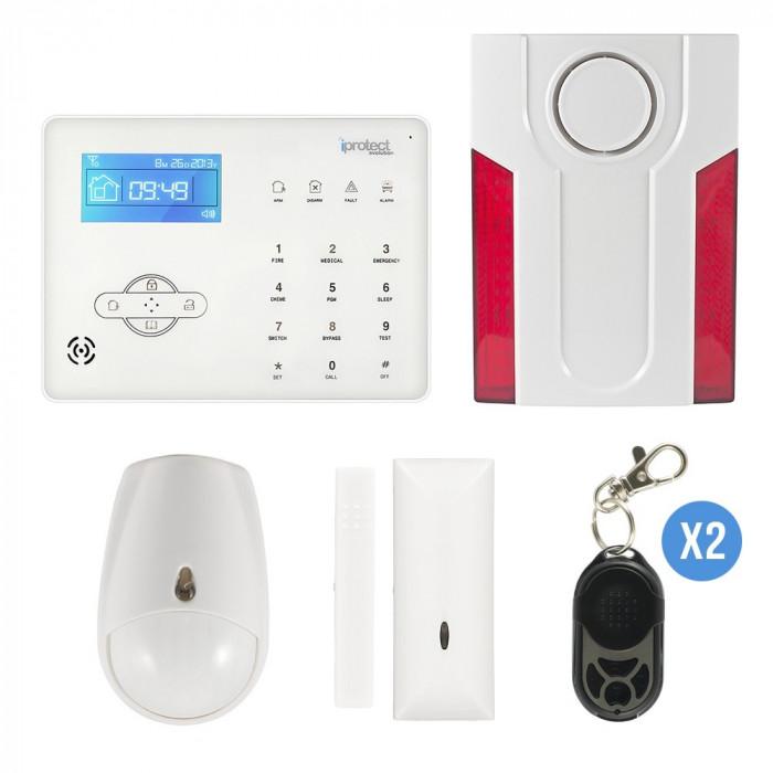 KIT ALARME TACTILE GSM + SIRENE FLASH