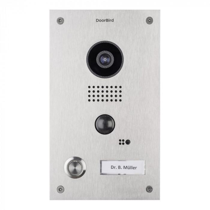 Portier vidéo IP wifi encastrable – Doorbird D202 Inox