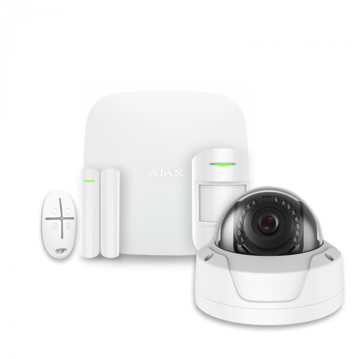 Alarme maison sans fil Ajax + Caméra IP Safire AJ-HUBKIT-W-DOM