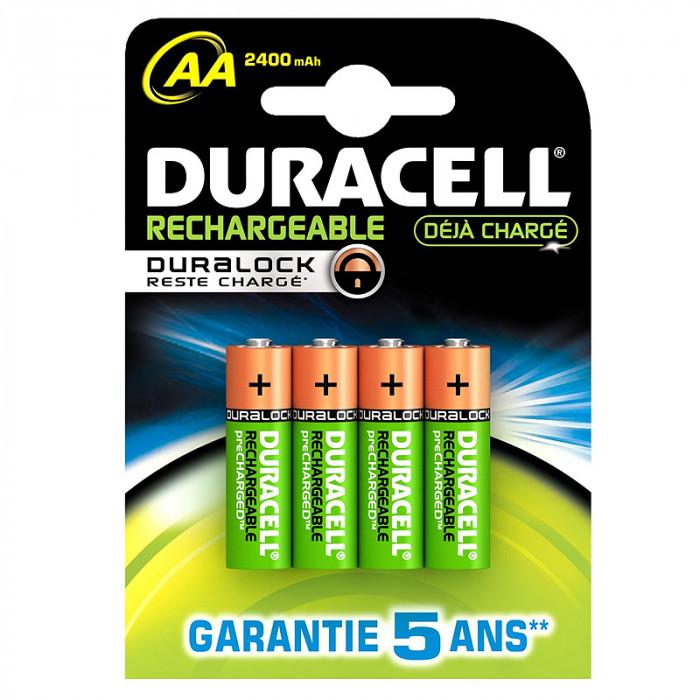 Lot de 4 piles rechargeables AA-HR06 NiMH - Duracell