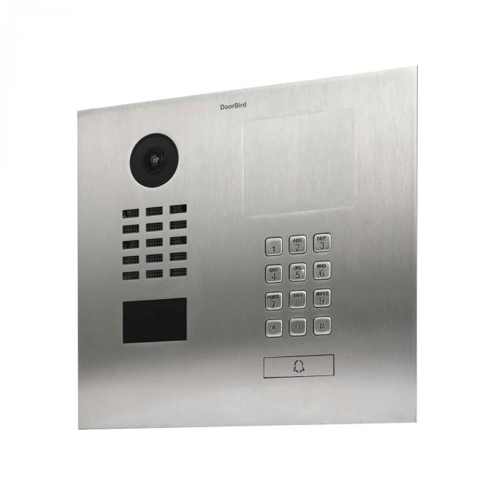 Portier vidéo IP avec panneau d'information gravable prémonté - Doorbird D2101KH Inox Eau salée - Encastré