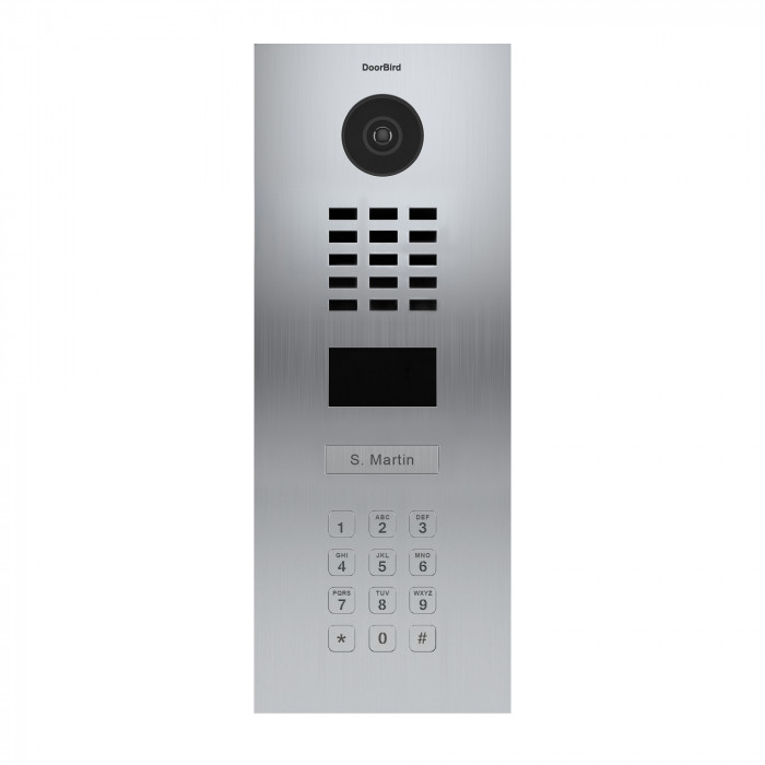 Portier vidéo IP avec lecteur de badge RFID et clavier - Doorbird D2101KV Inox