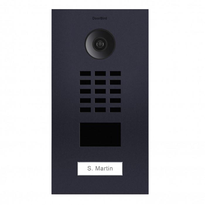 Portier video IP avec lecteur de badge RFID - 1 Sonnette - Anthracite - Doorbird