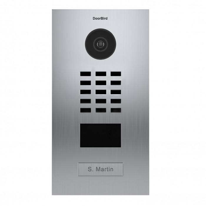 Portier vidéo IP 1 sonnette avec lecteur de badge RFID - Doorbird D2101V EAU SALEE Inox