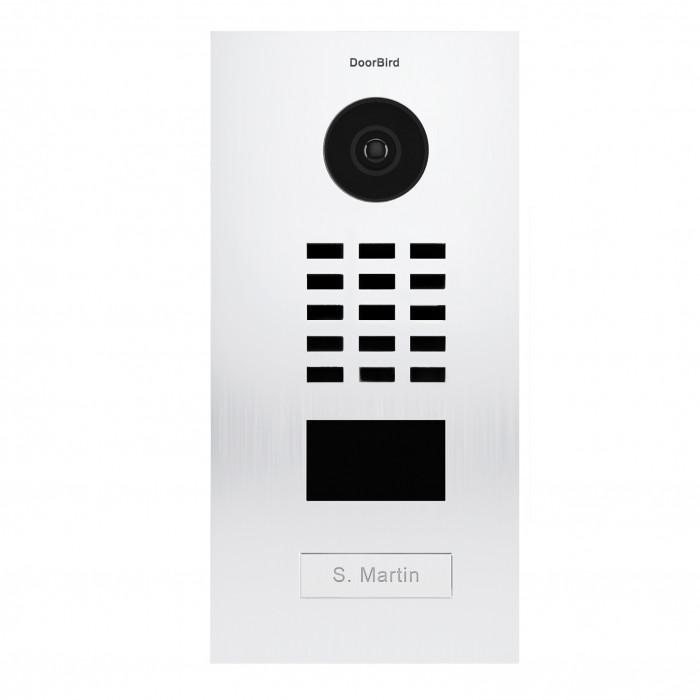 Portier vidéo IP 1 sonnette avec lecteur de badge RFID - Doorbird D2101V Blanc