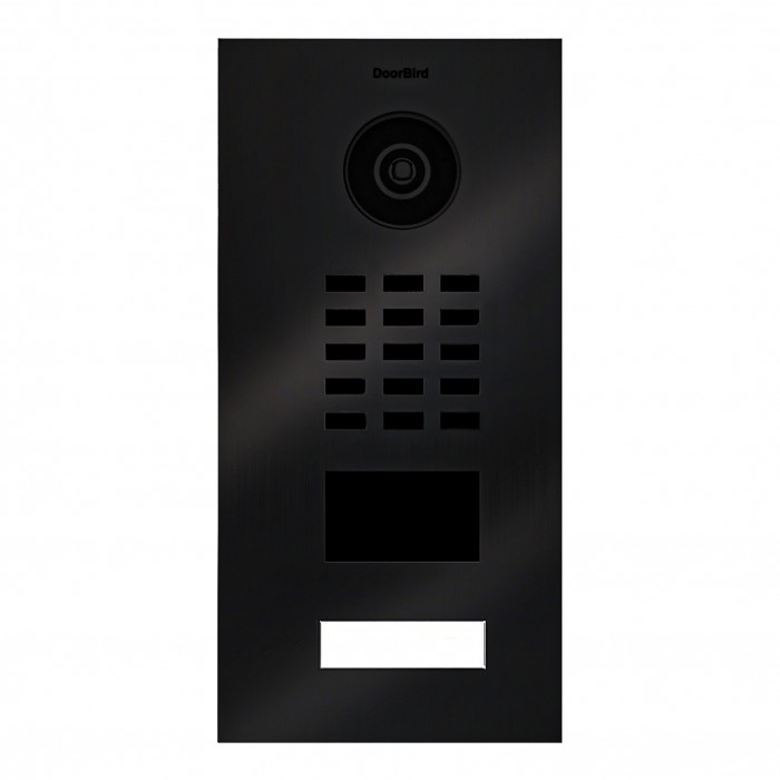 Portier vidéo IP 1 sonnette avec lecteur de badge RFID - Doorbird D2101V Titane