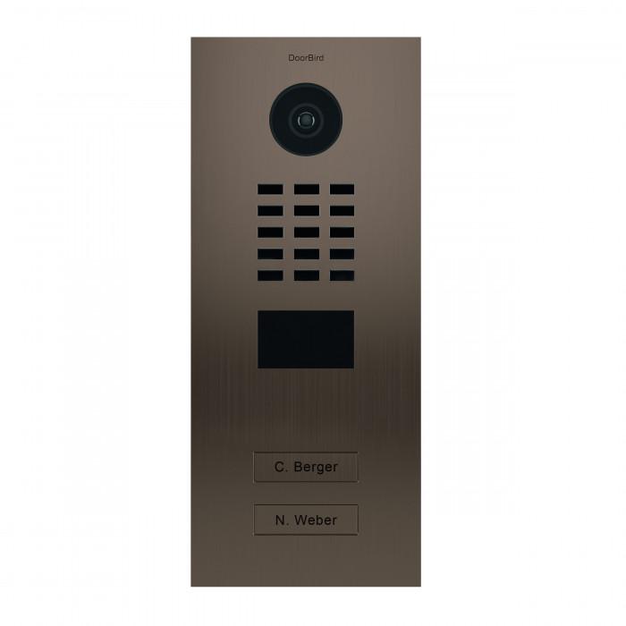 Portier vidéo IP 2 sonnettes - Doorbird D2102BV Bronze