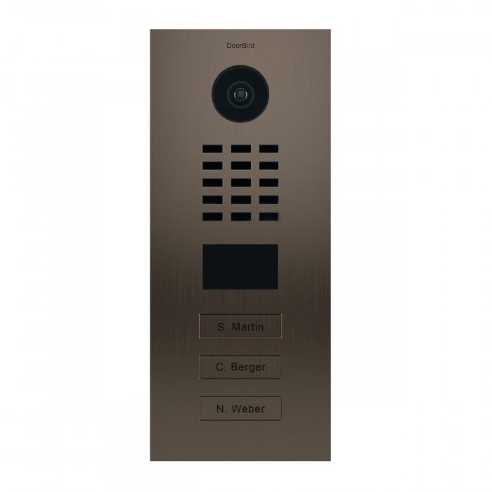 Portier vidéo IP 3 sonnettes - Doorbird D2103BV Bronze