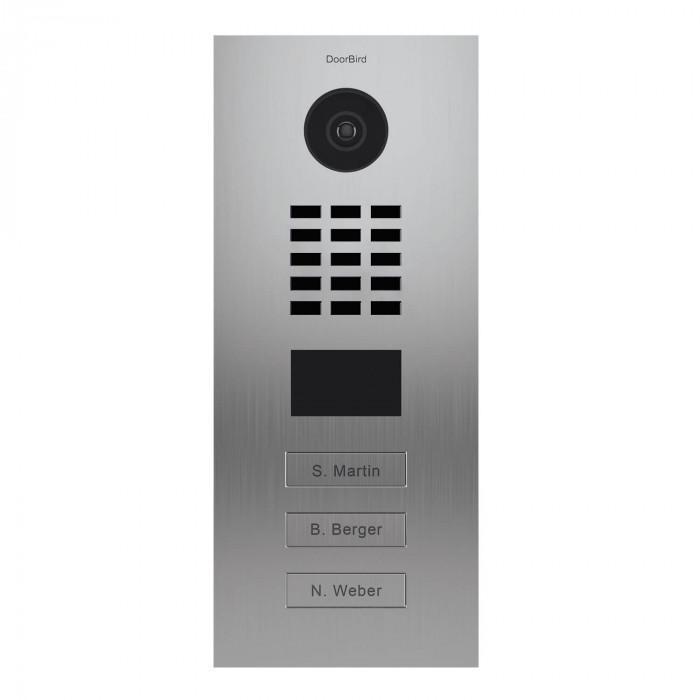 Portier vidéo IP 3 sonnettes - Doorbird D2103V Inox
