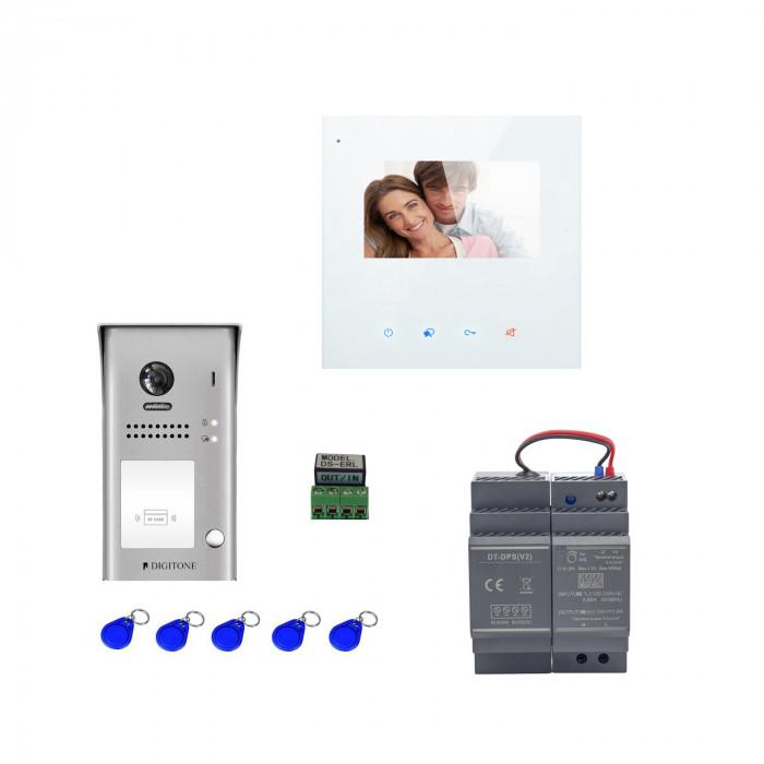 Kit portier vidéo wifi avec clavier à code et moniteur 4.3