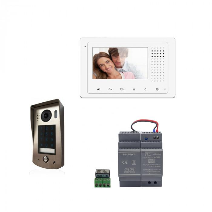 Kit portier vidéo avec clavier à code et moniteur couleur DT43 - Digitone by Gates